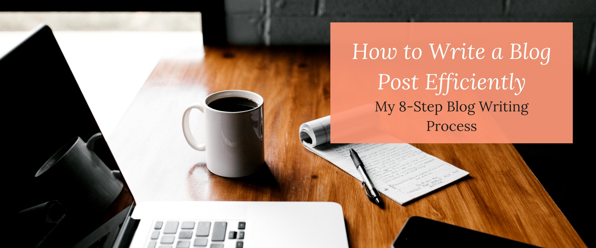 Is a lack of time keeping you from hitting your blogging goals? Having a process to follow can cut your blogging time in half! Here's my 8-step blog writing process to help you publish more content.